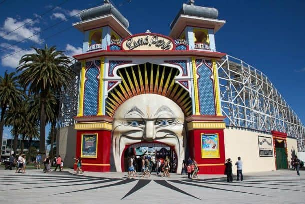 Things to do in Melbourne with Kids - Luna Park St Kilda