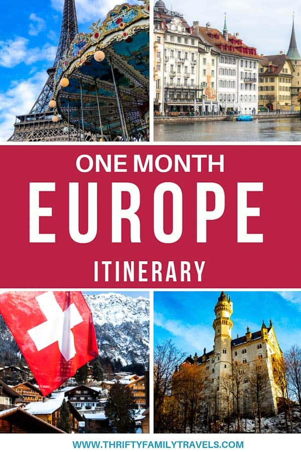 Europe trip itinerary