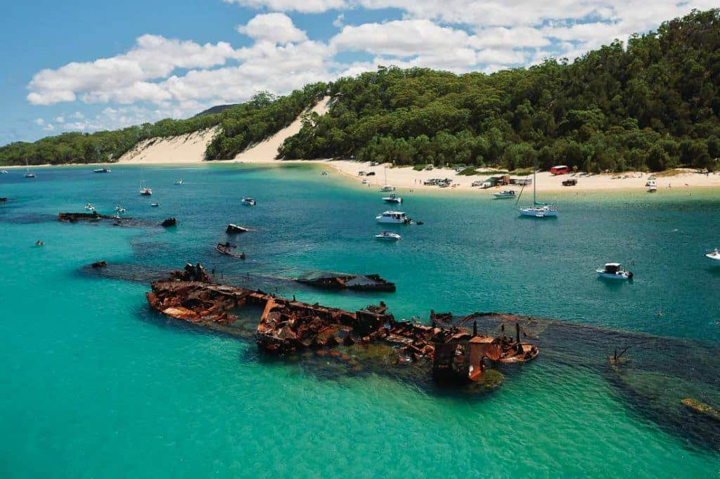 Tangalooma Wrecks Beach - Best Beaches Around Brisbane
