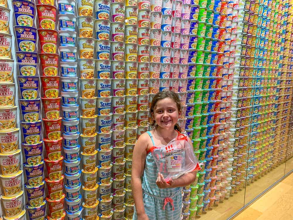 Cup Noodle Musuem - Osaka with kids