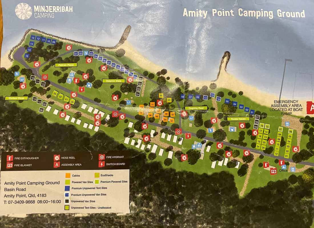 Amity Point Camping ground map