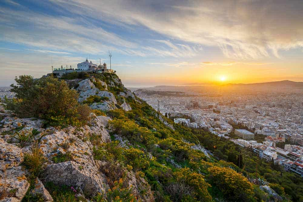 Lycabettus hill in Athens.