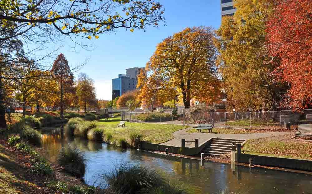 Christchurch City & Avon River in Autumn